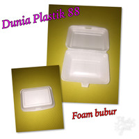 foam bubur / styrofom / sterofoam / sterofom / gabus / box nasi kuning