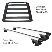 Cross bar jepit roof rail + Rack bagasi plastik Honda BR-V