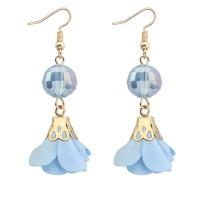 Jual [HOT ITEM] KE57573 Anting Tassel Blue Flower Murah