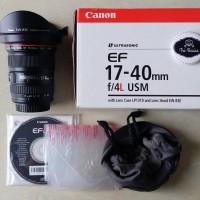 Lensa Canon EF 17-40mm F / 4.0L USM 17-40 Mm F / 4 L Like New [Bandung]