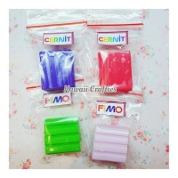 Jual fimo cernit polymerclay blok kecil / ovenbaked clay sculpey premo Murah
