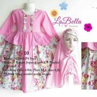 dress gamis anak 6-9th labella pink 10