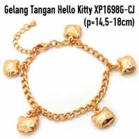 Gelang Tangan Hello Kitty Perhiasan Lapis Emas Gold XP1698G-CJ