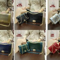Tas Wanita Chanel Boy Import / 888 (2 in 1)