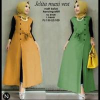 Jual 6865 jelita maxi vest/long vest katun/maxi dress/dress muslim murah Murah