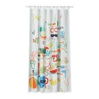 Ikea Badback Tirai Shower Aneka Warna 180x200cm
