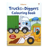 Harga buku import anak usborne trucks and diggers colouring | antitipu.com