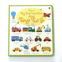 Buku Import Anak Usborne - My first word book about things that go