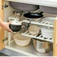 Jual Kitchen Rack Portable Stainless Rak Dapur Serbaguna 2 Susun Murah