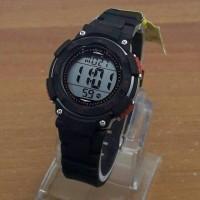 Jam Tangan Wanita Terbaru QQ Digital Rubber Premium Black