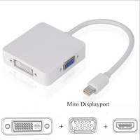Jual KABEL MINI DISPLAY PORT KE MULTI ADAPTER HDMI+VGA+DVI THUNDERBOLT DELL Murah