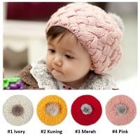 Topi Kupluk Anak Bayi Rajut - Nanas / Pineapple Knitted Baby Hat