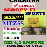 Aki Gel Kering Honda SCOOPY FI SPORTY Motobatt MTZ5S / GTZ5S GS YUASA
