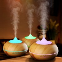 Wooden Essential Oil Diffuser Ultrasonic Aroma Humidifier-300ML