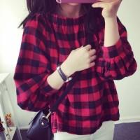 Jual blouse kemeja big size jumbo oversized fashion wanita xxl besar sale Murah