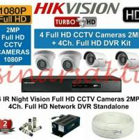 PAKET CAMERA CCTV HIKVISION 4CH + 2TB FULL HD 2MP ( KOMPLIT SET )