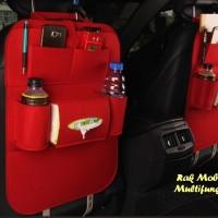 RAK MOBIL ELEGANT Car seat organizer Tas Mobil Multifungsi MERAH