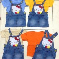 Jumpsuit Jeans Karakter Hello Kitty