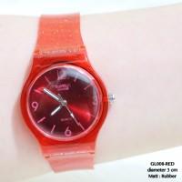 Jual Jam tangan swatch transparan guess fashion casual wanita supplier dot Murah