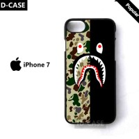 LIMITED case iPhone 7 Bathing APE Bape camo shark Stripe hardcase
