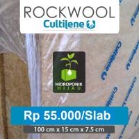 Rockwool Hidroponik merk Cultilene - 1 Slab (100x15x7.5cm)