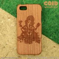 Jual E.3 Ethnic iPhone 5S Wood Case COID Casing Kayu Asli Ukiran Murah