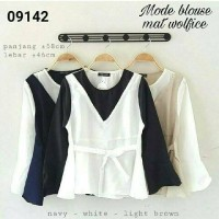 mode blouse / atasan wanita muslim / hijab / tunic / tunik /polos