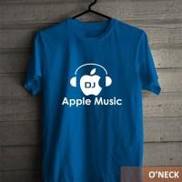Kaos Baju Distro Murah Logo Earphone Apple Music Siluet Keren