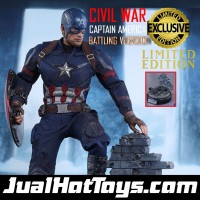 Jual Hot Toys Captain America Battling Version Hottoys Civil War Murah