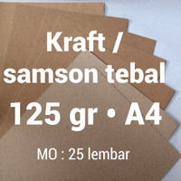 kertas samson | 125 gr | A4 | kraft | karton | brown | paper | tebal |