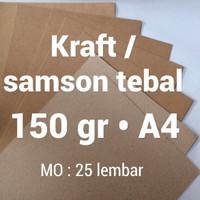 kertas samson | 150 gr | A4 | kraft | karton | brown | paper