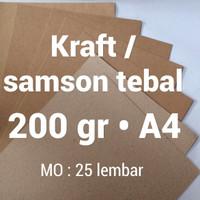 kertas samson | 200 gr | A4 | kraft | karton | brown | paper