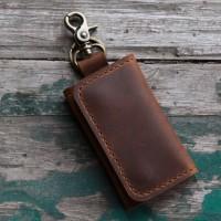 Jual gantungan kunci dompet stnk mobil kulit crazy horse Murah