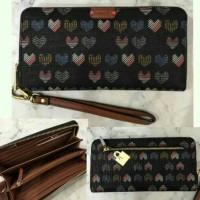 dompet fossil original emma zipped wallet large motif heart