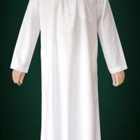 Baju Gamis Pria Dewasa  Import Putih Krah Kancing Limited Edition