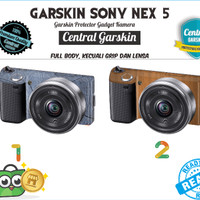 Garskin Kamera Sony Nex 5 - kayu 2