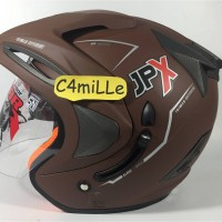 Helm JPX Supreme Double visor Brown Doff / dop