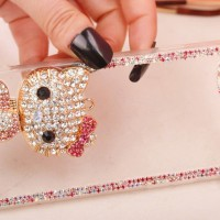 iPhone 5 5s Bling Blink Hello Kitty Transparan Soft Case Bumper cover
