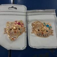 Ring stend Diamond Karakter Hellokitty Elegant dan Cantik Bahan logam