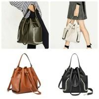 Tas Zara Drawstring Bucket Bag ORI