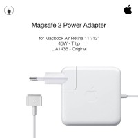 "Apple ORIGINAL 45W Charger 2 Macbook Air 11""/13"" T tip Magsafe 2 A1436"