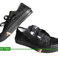 Jual Sepatu Sekolah Anak/Pria/Wanita NB VelcroPendek Full Hitam Converse Murah