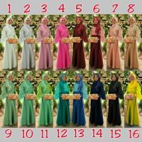 OLIVIA SYARI MAXI GAMIS Fit L / baju pesta muslim / modern wanita
