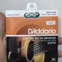Daddario EXP10 10-47 Steel Acoustic Guitar Strings