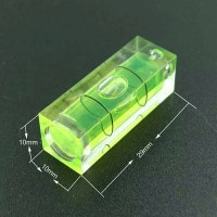 Bubble Spirit Level Vial Square Acrylic untuk TV Rack Bracket