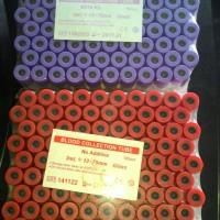 Tabung Darah, Blood collection Tube . EDTA,/PLAIN