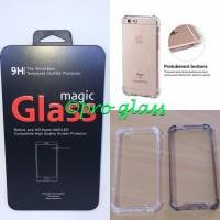 Paket Iphone 8 Plus Tempered Glass + Acrylic Anticrack Case