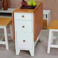 meja lipat makan bagus murah hemat tempat kayu bagus terjamin dapur