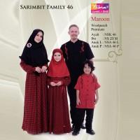Jual Sarimbit Family Nibras 46 Maroon - Busana Couple Original - Family Murah