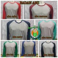 Jual Kaos Reglan Panjang/Raglan Polos Panjang/Ragelan Murah/M,L,XL,XXL Murah